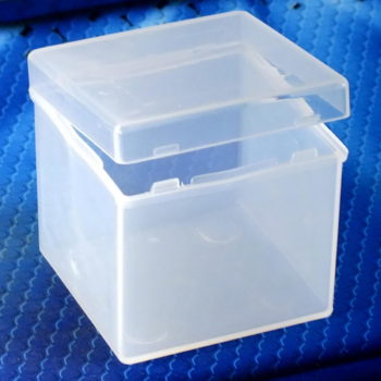 Cube Plastic Box 3×3 white