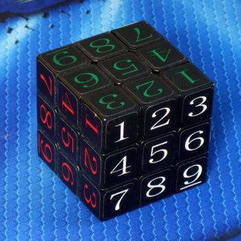 CubeTwist Sudoku Cube 3x3 black