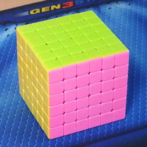 Moyu Aoshi 6x6 stickerless pink