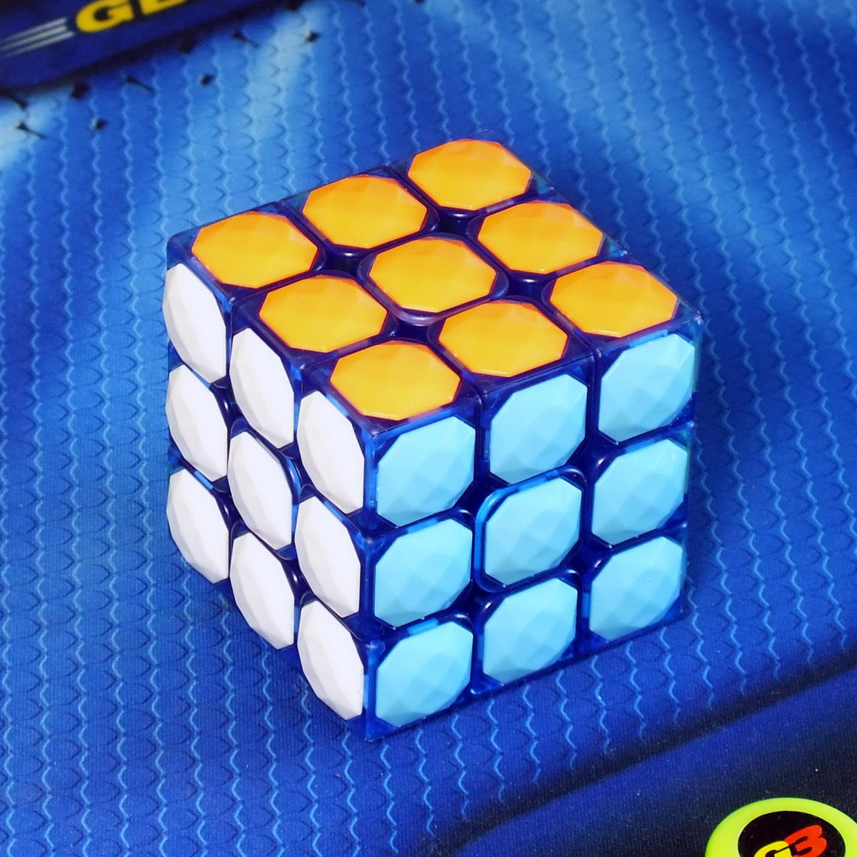 Moyu Diamond cube 3x3 transparent blue