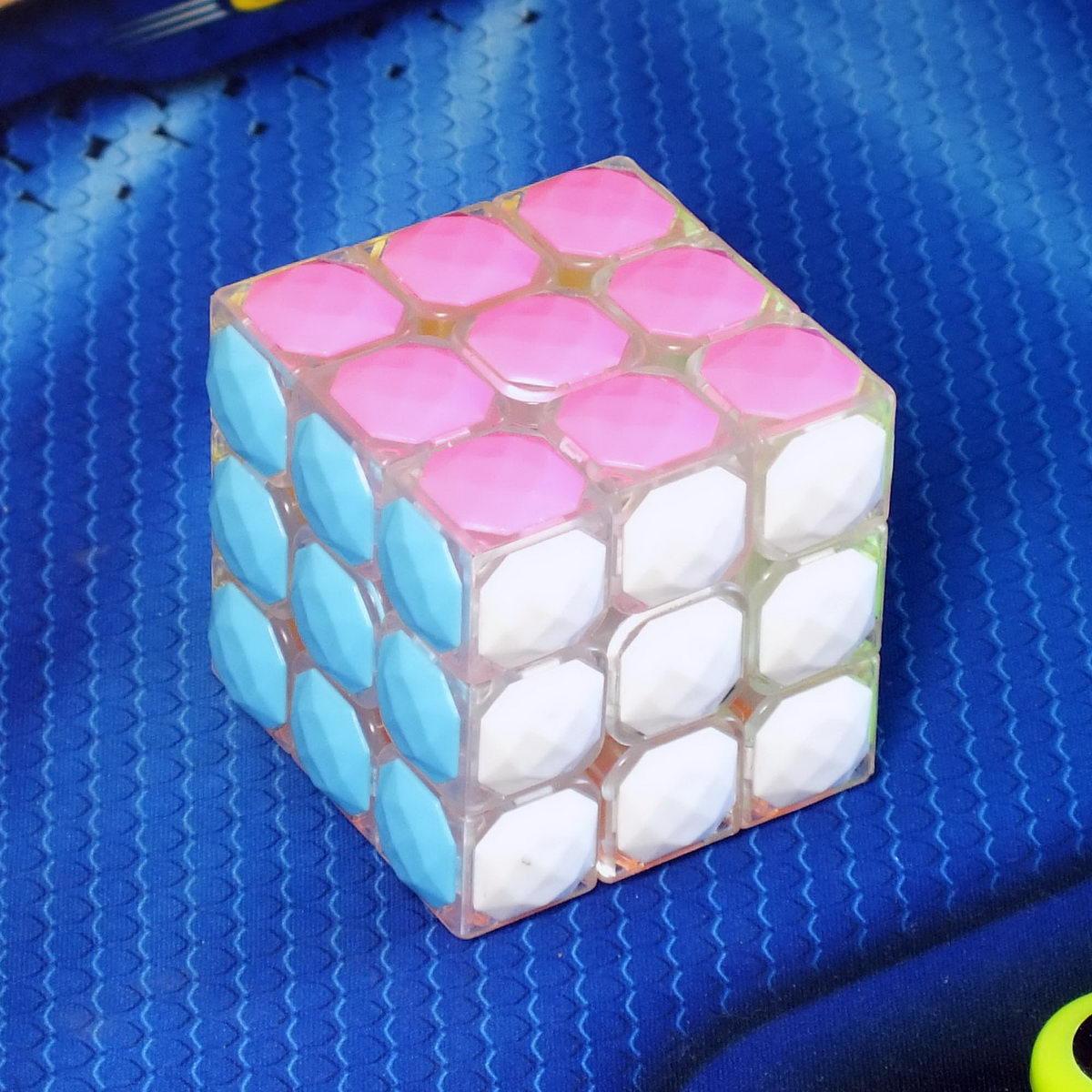 Moyu Diamond Сube 3x3 transparent white