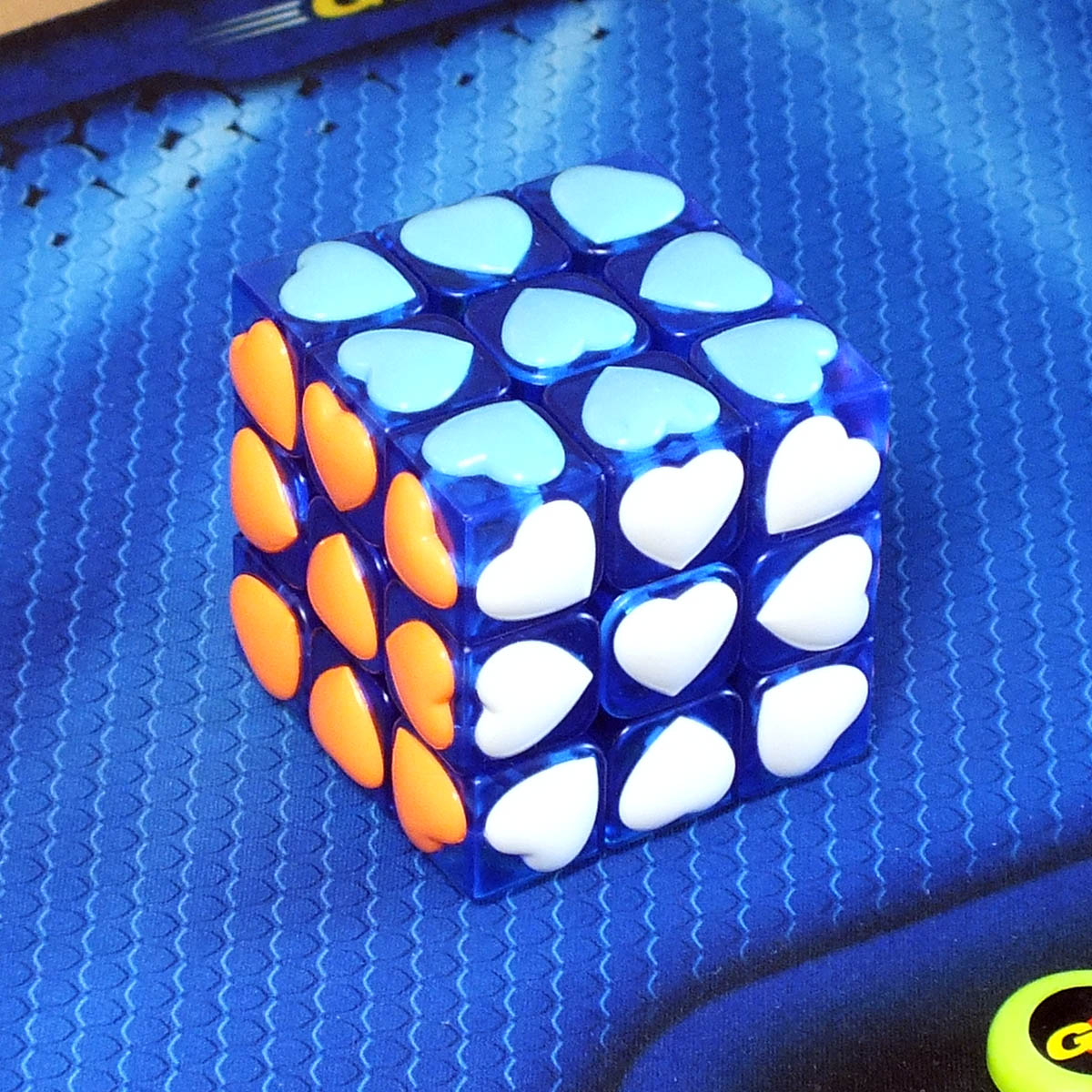 Moyu Love cube 3x3 transparent blue