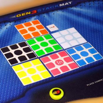 Наклейки для кубов Gans 3x3 full-bright