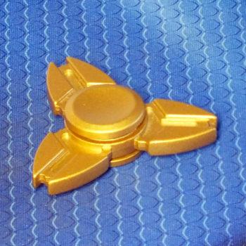 Спиннер металлический Crab gold
