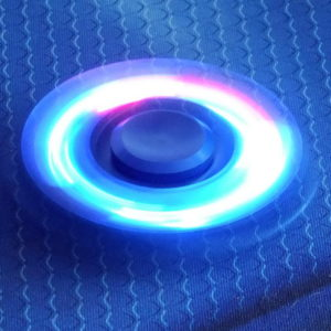 Спиннер металлический LED Clover blue